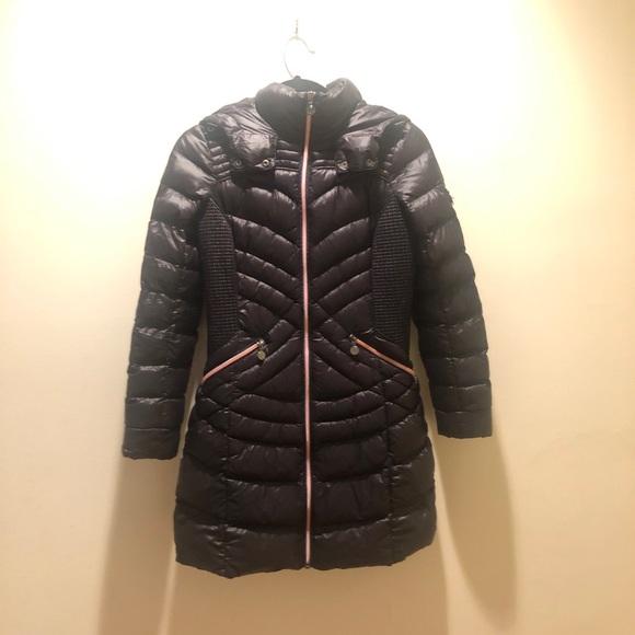 Bernardo Womens Velvet Puffer Jacket